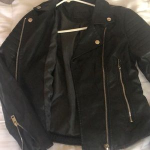 Blank NYC Jackets & Coats - Women's black zipper leather jacket